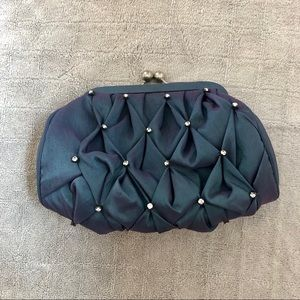 Vintage tiny holographic and crystal clutch